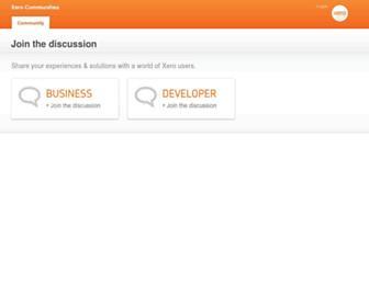community.xero.com screenshot