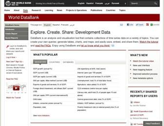 databank.worldbank.org screenshot
