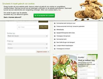 Main page screenshot of recepten.nl