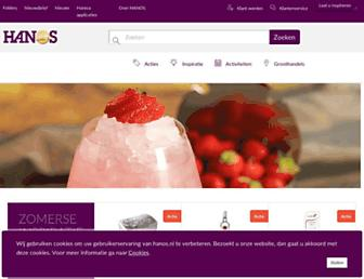 Main page screenshot of hanos.nl