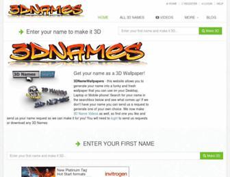 3dnamewallpapers.com screenshot