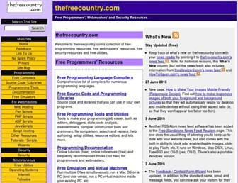 thefreecountry.com screenshot