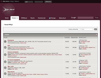 Main page screenshot of forum.php.pl
