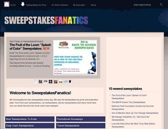 sweepstakesfanatics.com screenshot