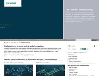 industry.siemens.com screenshot