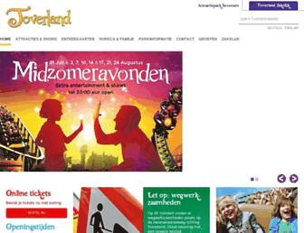 Main page screenshot of toverland.nl