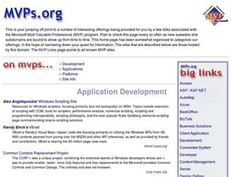 Main page screenshot of mvps.org