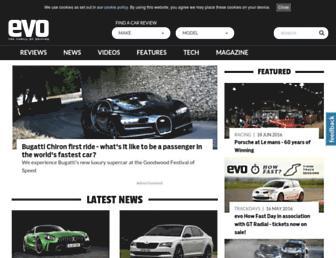 evo.co.uk screenshot