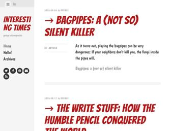 Main page screenshot of blog.adamopoulos.net