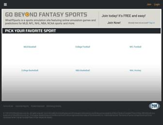 whatifsports.com screenshot
