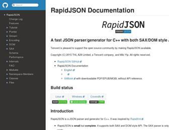 rapidjson.org screenshot