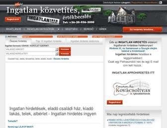 ingatlan.totalextra.hu screenshot