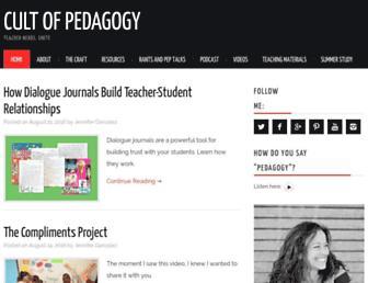 cultofpedagogy.com screenshot