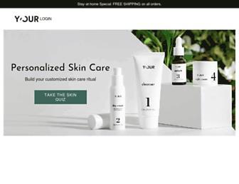 y-ourskin.com screenshot