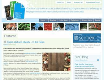 Main page screenshot of sciencemediacentre.co.nz