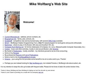 Main page screenshot of wolfberg.net
