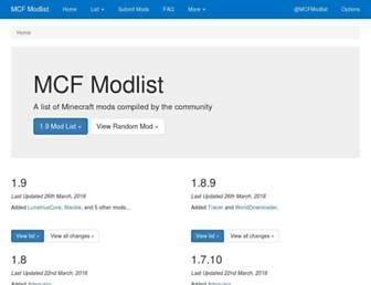 modlist.mcf.li screenshot