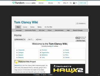 tomclancy.wikia.com screenshot