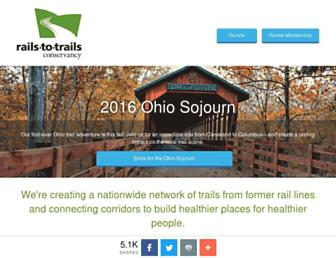 railstotrails.org screenshot