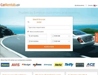 carrentals.com screenshot