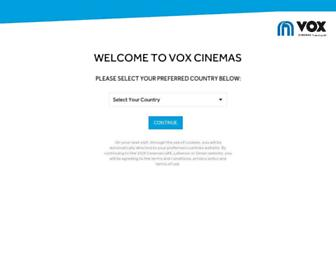 Thumbshot of Voxcinemas.com