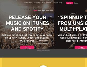 spinnup.com screenshot