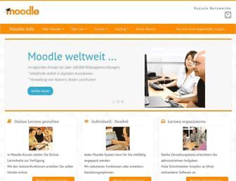 Main page screenshot of moodle.de