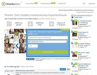 Main page screenshot of zahnarzt-empfehlung.de