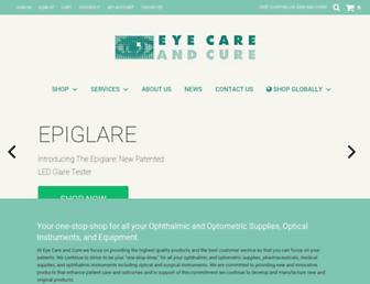 eyecareandcure.com screenshot