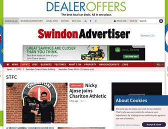 Main page screenshot of thisisswindontownfc.co.uk
