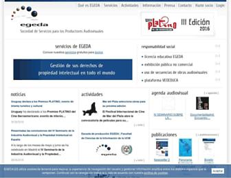 Main page screenshot of egeda.es