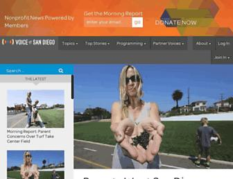 Main page screenshot of voiceofsandiego.org