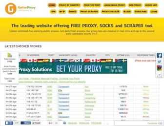 gatherproxy.com screenshot