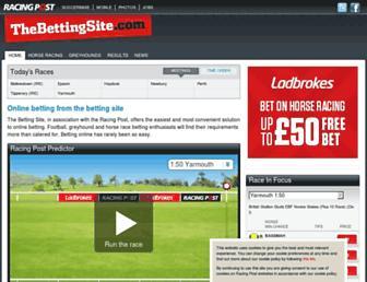 betting.racingpost.com screenshot