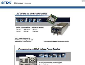 us.tdk-lambda.com screenshot
