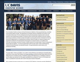 web.cs.ucdavis.edu screenshot