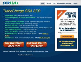 Thumbshot of Serlists.com