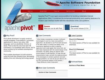 pivot.apache.org screenshot