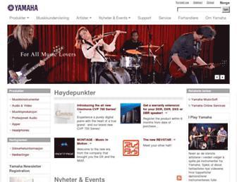 no.yamaha.com screenshot