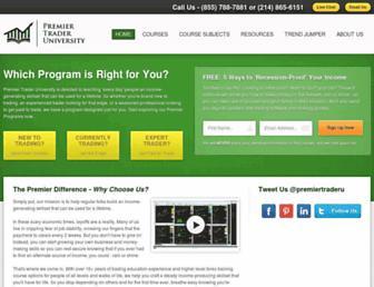 Thumbshot of Premiertraderuniversity.com