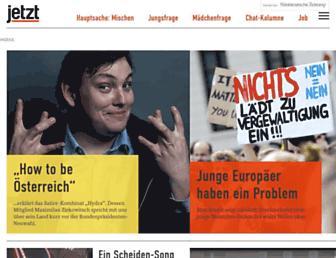 Main page screenshot of jetzt.sueddeutsche.de