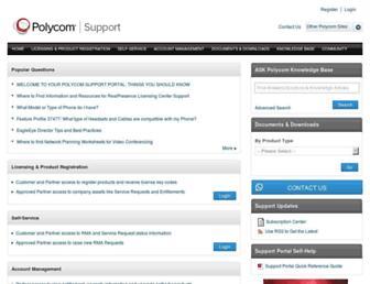 support.polycom.com screenshot