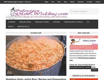 naijaglamwedding.com screenshot