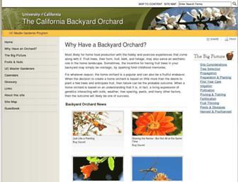 Main page screenshot of homeorchard.ucdavis.edu