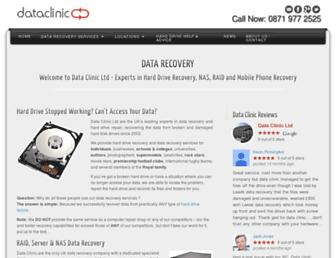 dataclinic.co.uk screenshot