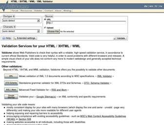 Main page screenshot of validome.org