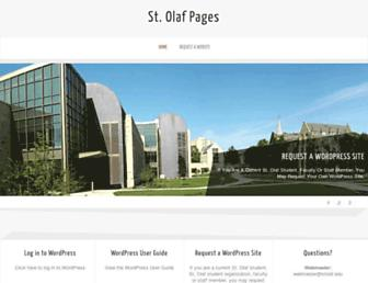 Main page screenshot of pages.stolaf.edu