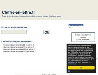 chiffre-en-lettre.fr screenshot