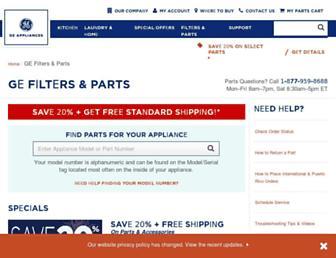 Thumbshot of Geapplianceparts.com