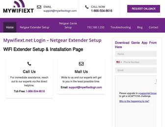 mywifiextlogn.com screenshot
